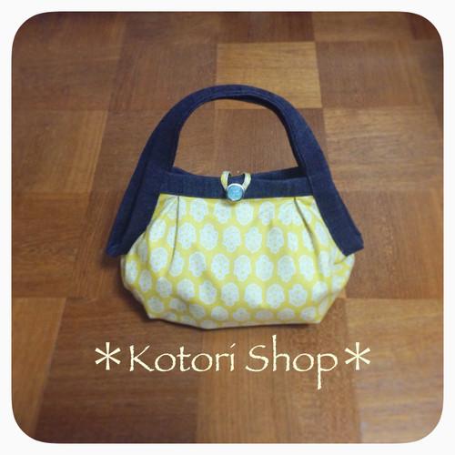 黄色の小花のグラニーバッグ